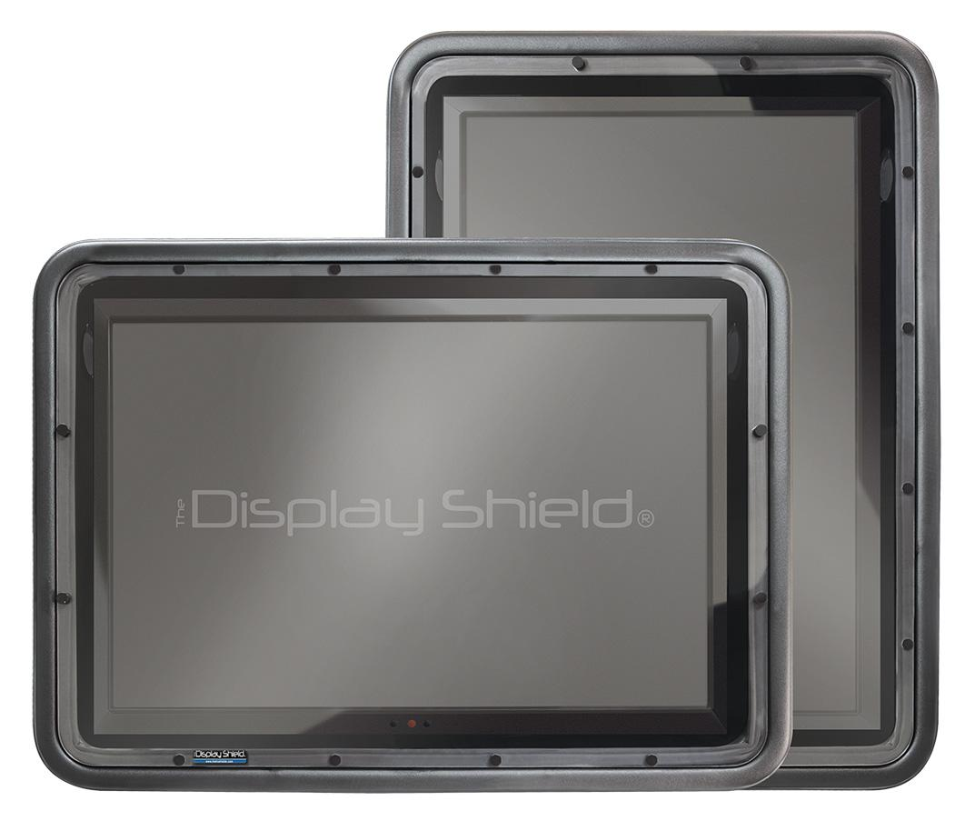 The display shield horizontal and vertical display cases