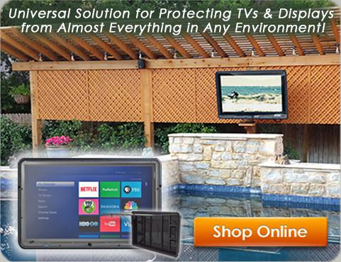 outdoor tv enclosure diy waterproof cabinet case amazon affordable weatherproof