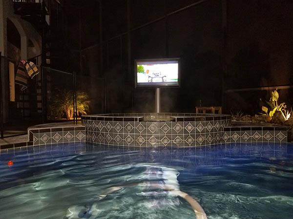 The TV Shield PRO Hot Tub
