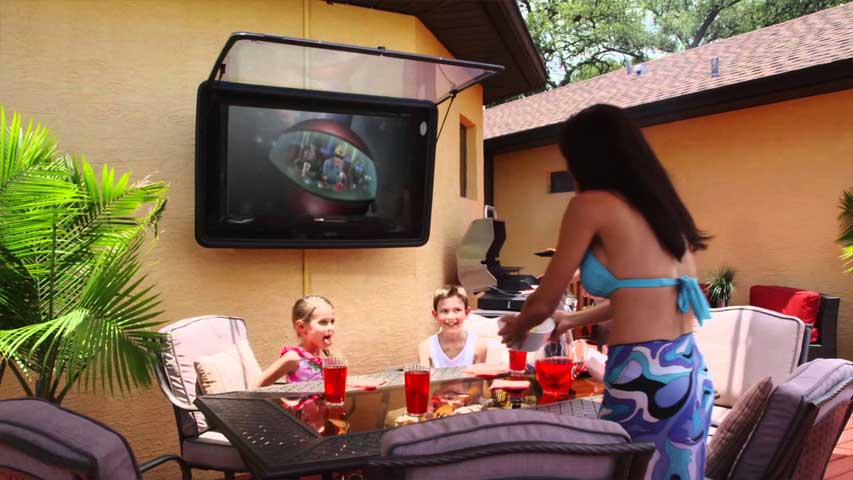 Commercial: Watch TV Outside